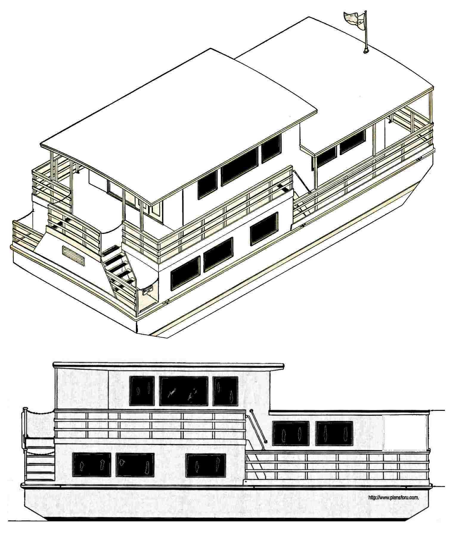Excellent house boat plans pictures best inspiration for Boat house plans pictures